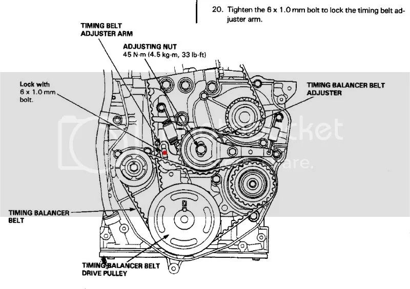 honda timing belt tensioner