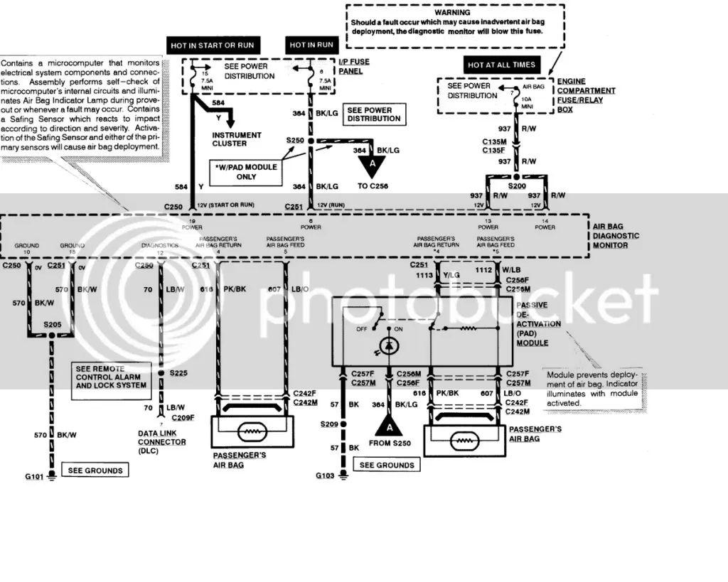 1995 f150 airbag wiring diagram