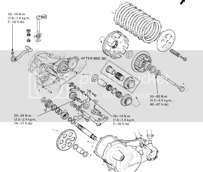 200x transmission diagram