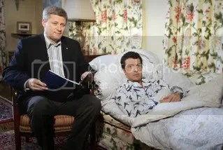 Prime Minister Stephen Harper & Rick Mercer at 24 Sussex Drive. Telecast date: Oct 31, 2006.