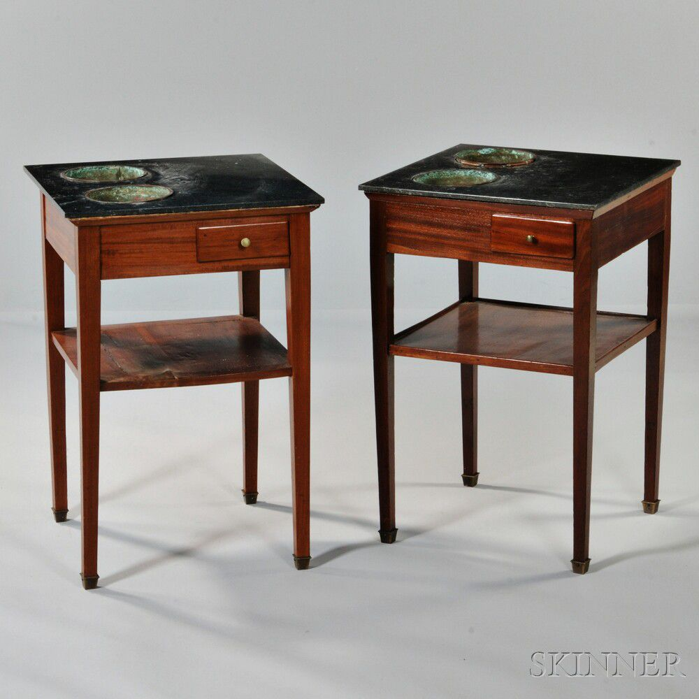 Planting Tables For Sale Pair Of Louis Philippe Marble Top Mahogany Planter Tables Sale