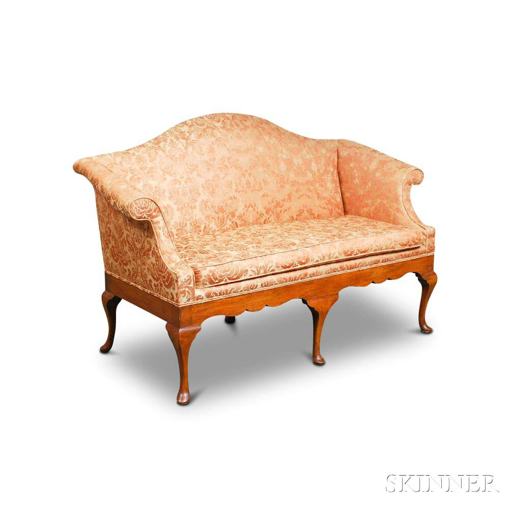 Sofa Queen Anne Queen Anne Style Stained Maple Camel Back Sofa Sale Number 2974t