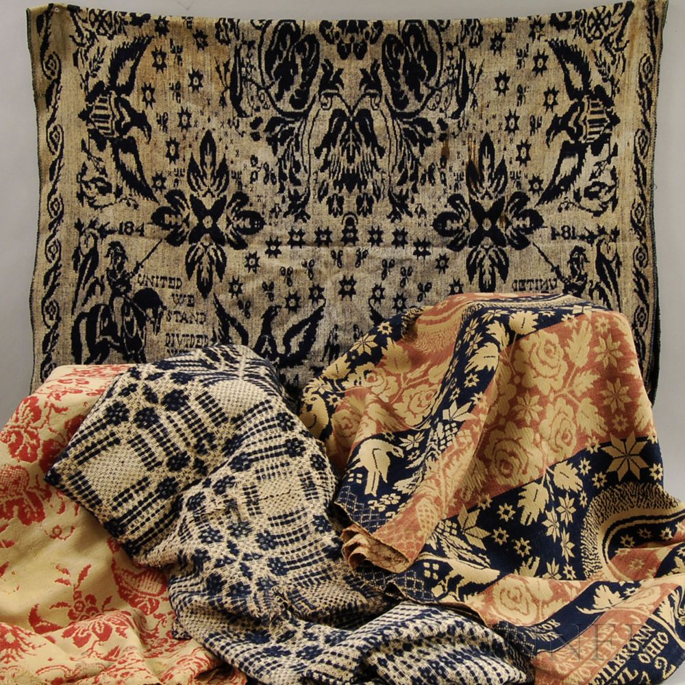 Coverlets For Sale Three Coverlets And A Textile Sale Number 2863m Lot Number 396