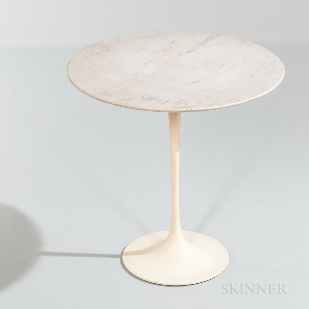 Knoll International Eero Saarinen For Knoll International Marble Top Tulip Side Table