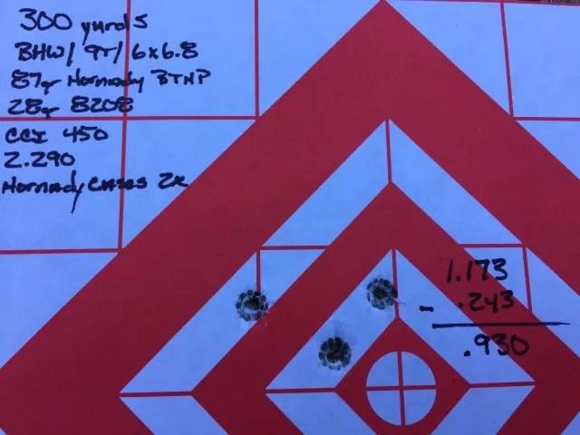 6x68 SPC at 300 yards BlackHoleWeaponry