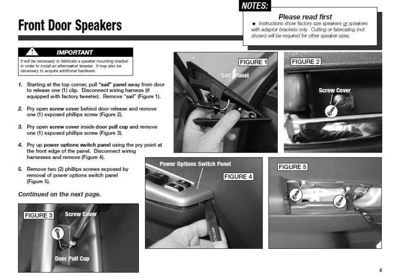 Guide Replacing door speakers in \u002708+ WRX/Impreza Spacers