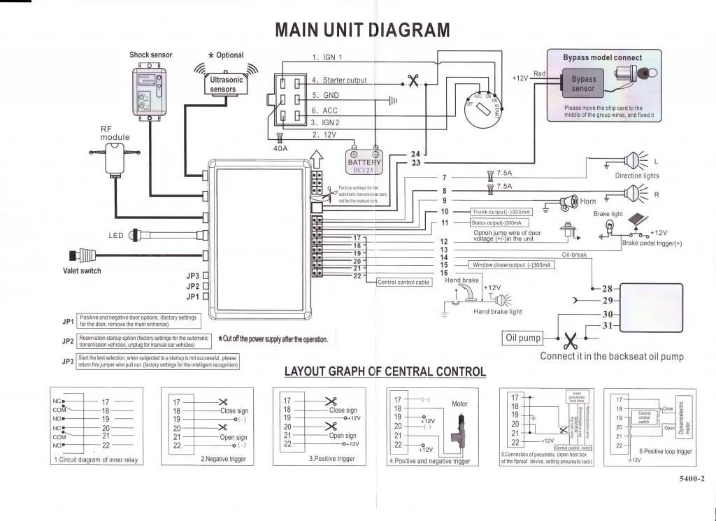 hign output led wire diagram