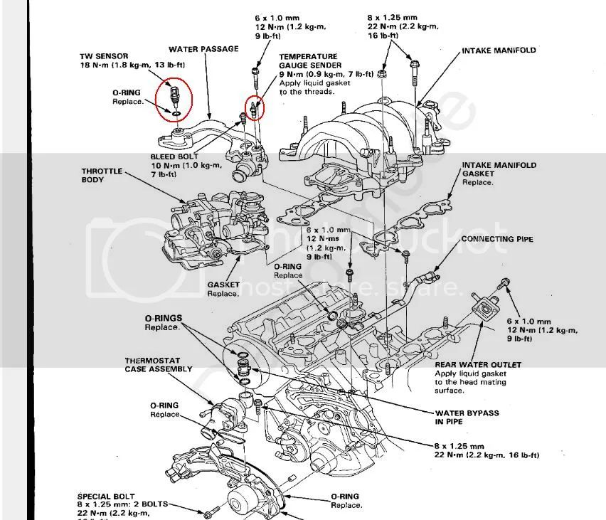 91 acura legend engine diagram