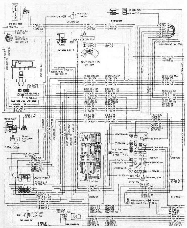 87 Chevy K5 Wiring Diagram Wiring Diagram