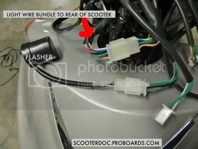Where Is Turn Signal Flasher in TaoTao ATM50-A1 - Motor Scooter