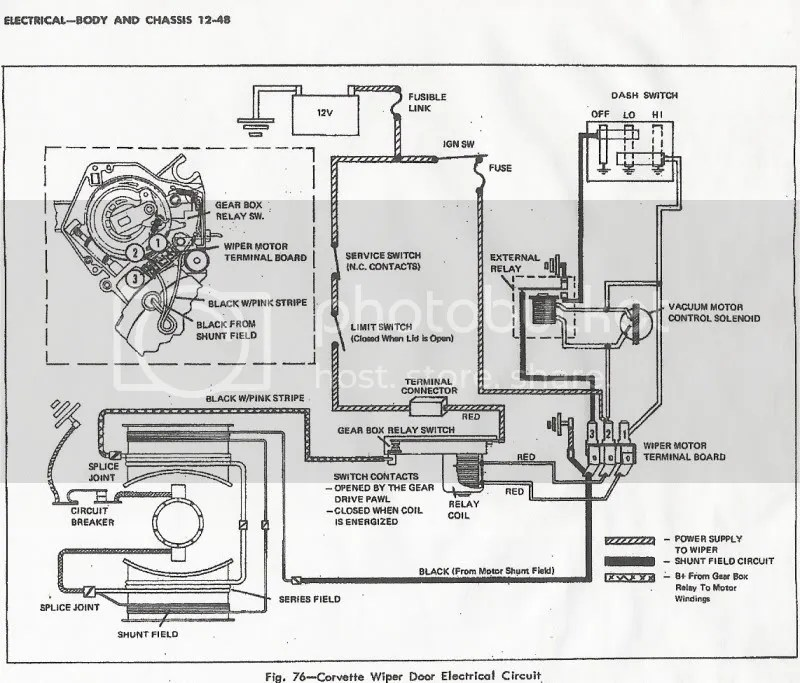 1972 Wiper motor wiring - CorvetteForum - Chevrolet Corvette Forum