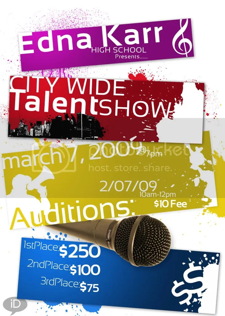 School Talent Show Flyer talent show flyer design news post magic