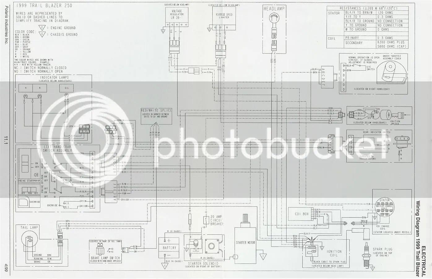 92 polaris trailblazer wiring schematic