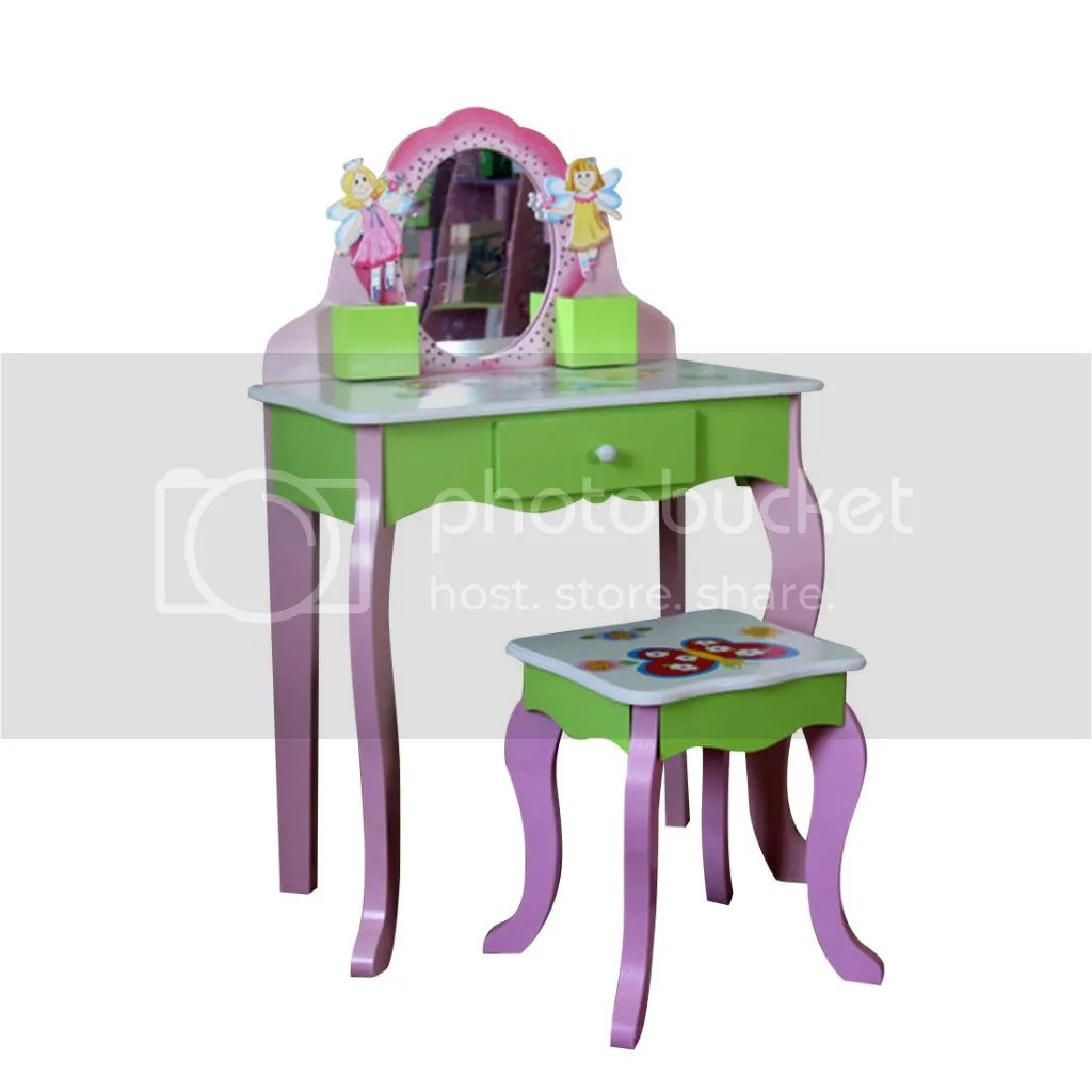 Kids Vanity Chairs Children Kids Girls Vanity Butterfly Fairy Dressing Table