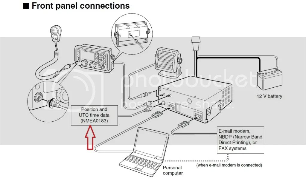 wiring vhf radio to gps