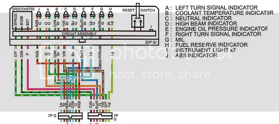 Digital speedo wiring details - Honda Fury Forums Honda Chopper