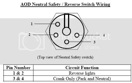 neutral safety switch wire diagram wires on neutral safety switch