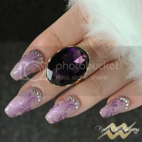 Purple Passion: Stamped Nail Art Design