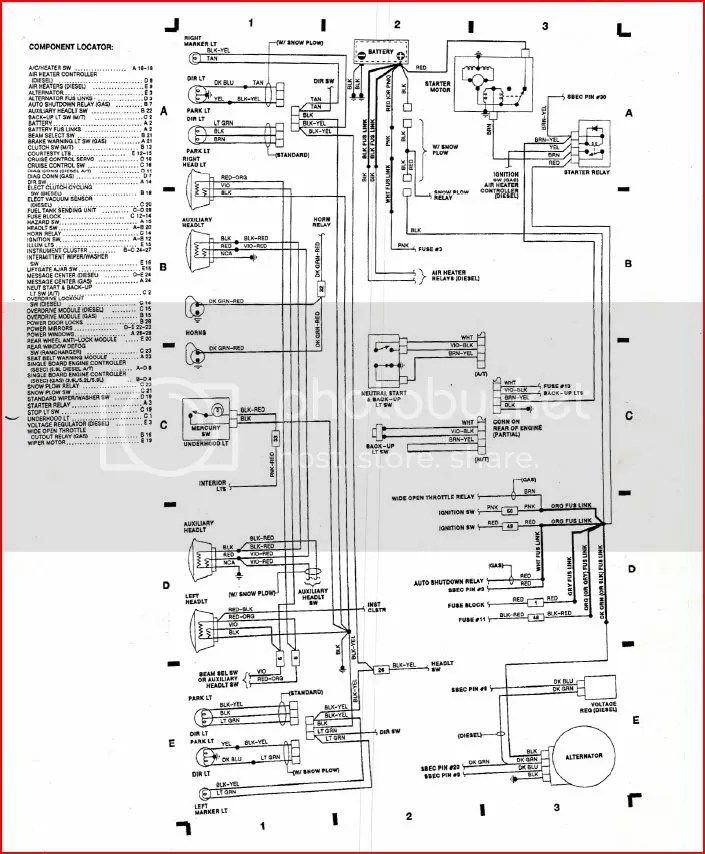93 Dodge Ram Pick Up Ignition Wiring Diagram Schematic Diagram