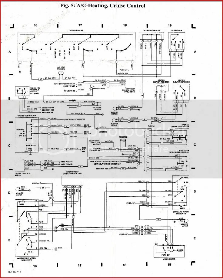 94 Dodge Ram Wiring Diagram Control Cables  Wiring Diagram