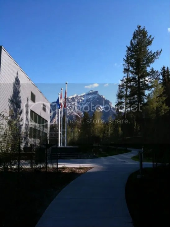 This morning at the Banff Center