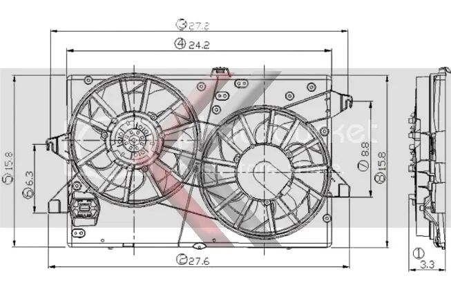 contour electric fans wiring harness