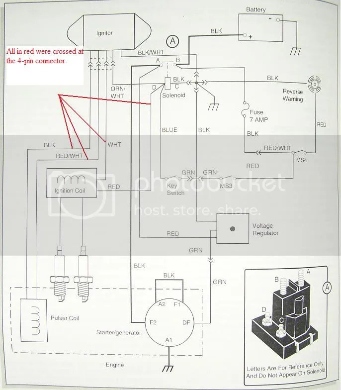 1990 Ez Go Golf Cart Wiring Diagram Wiring Diagram