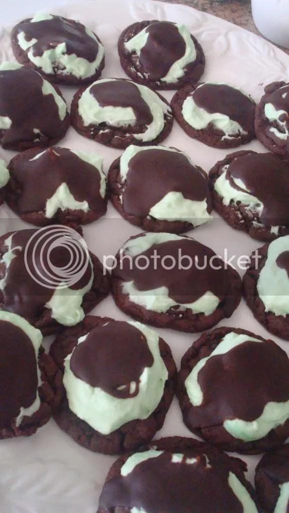 Chocolate Grasshopper Cookies