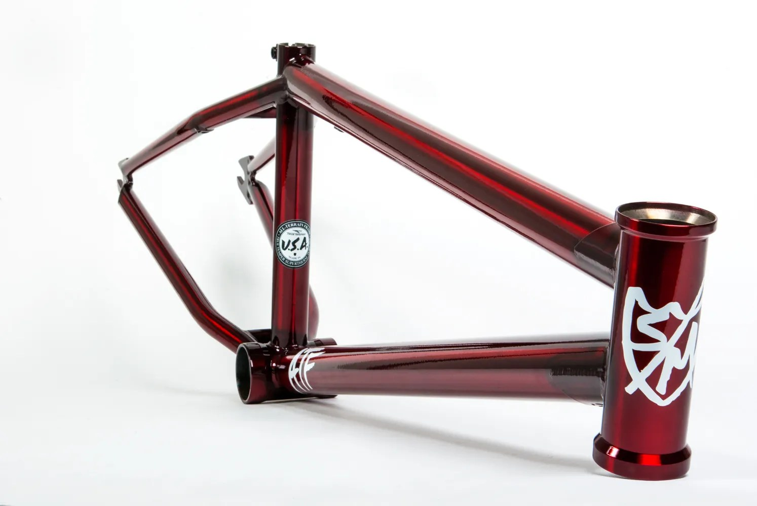 SM BIKES ATF FRAME 205 TRANS RED BMX BIKE CLEAR FIT CULT LTF