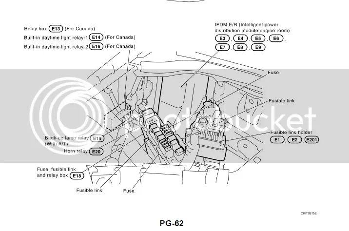2007 infiniti g35 fuse box locations