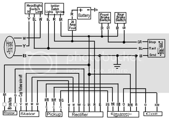 xs650 simplified wiring diagram