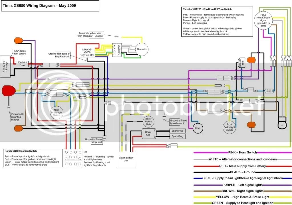 yamaha 650 wiring diagram yamaha xs wiring schematic wiring diagram