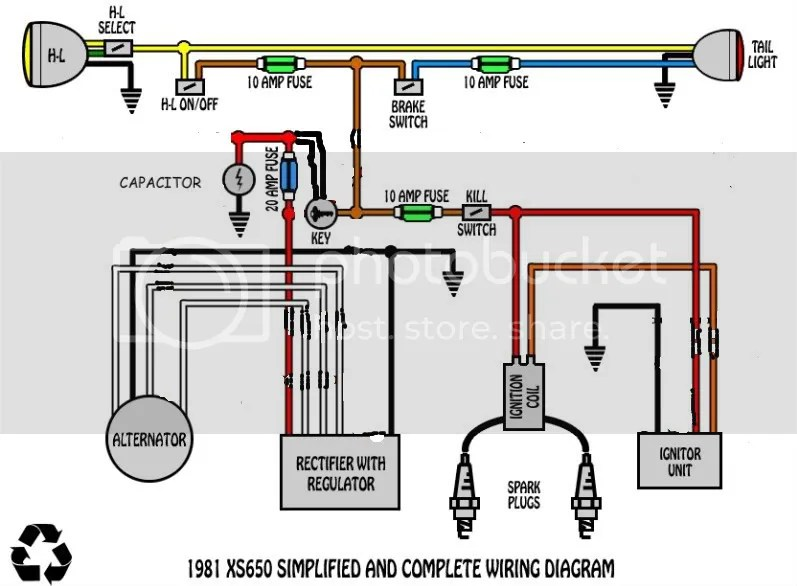 Xs650 Basic Wiring Diagram Wiring Diagram