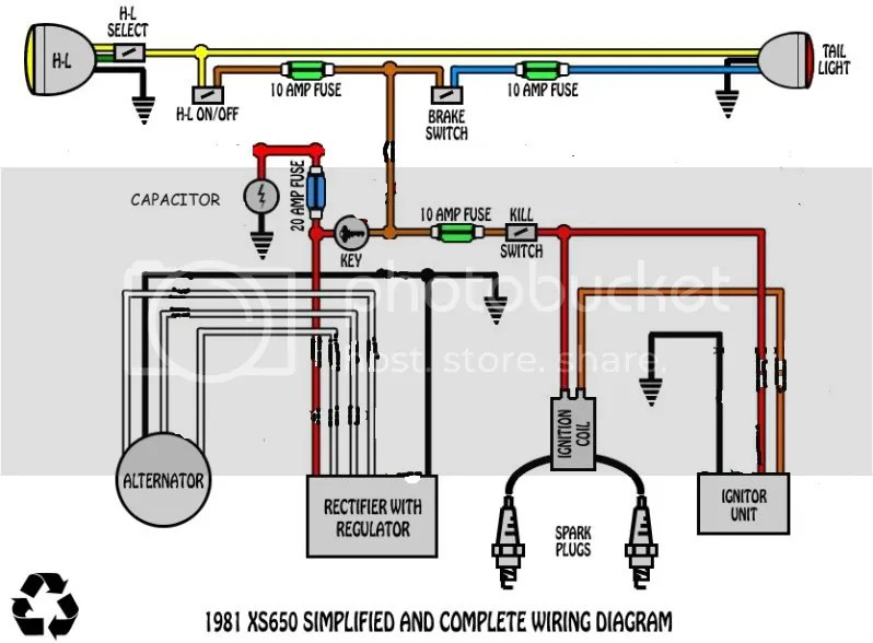 Xs650 Simple Wiring Harness Wiring Diagram