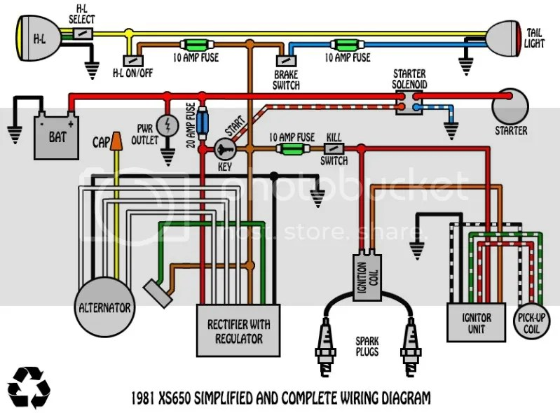 Yamaha Xs650 Wiring Diagram - Wiring Diagrams