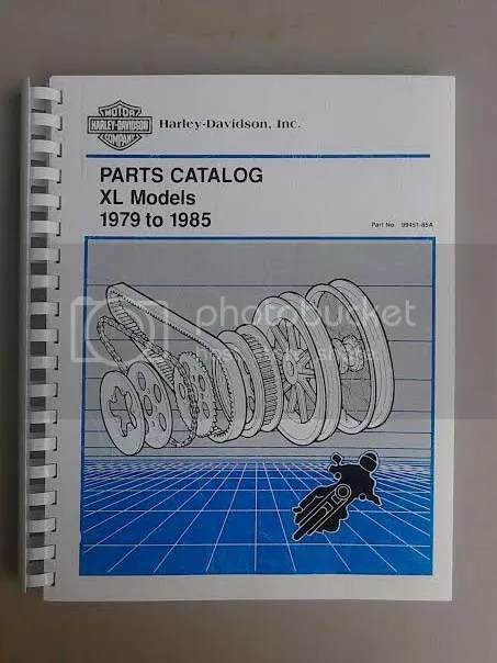Sell HARLEY IRONHEAD SPORTSTER XL PARTS MANUAL 1979 1980 1981 1982