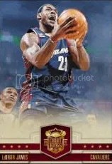 09/10 Panini Court Kings LeBron James Base Card