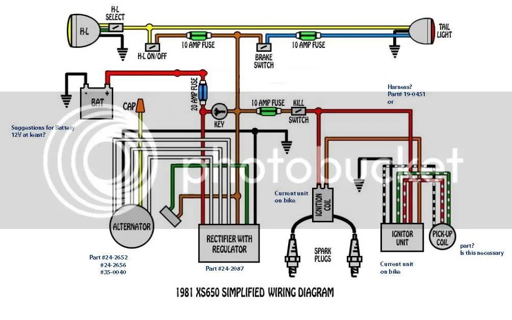 1981 Xs650 Engine Diagram Wiring Schematic Diagram