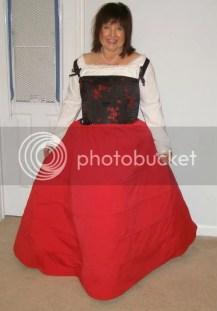 Anne in Tudor Garb