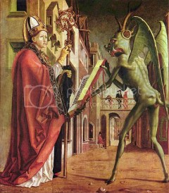 Michael Pacher. St. Wolfgang and the Devil