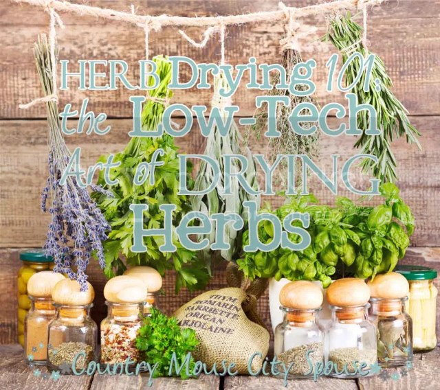 Herb Drying 101: The Low-Tech Art of Drying Herbs- Country Mouse City Spouse