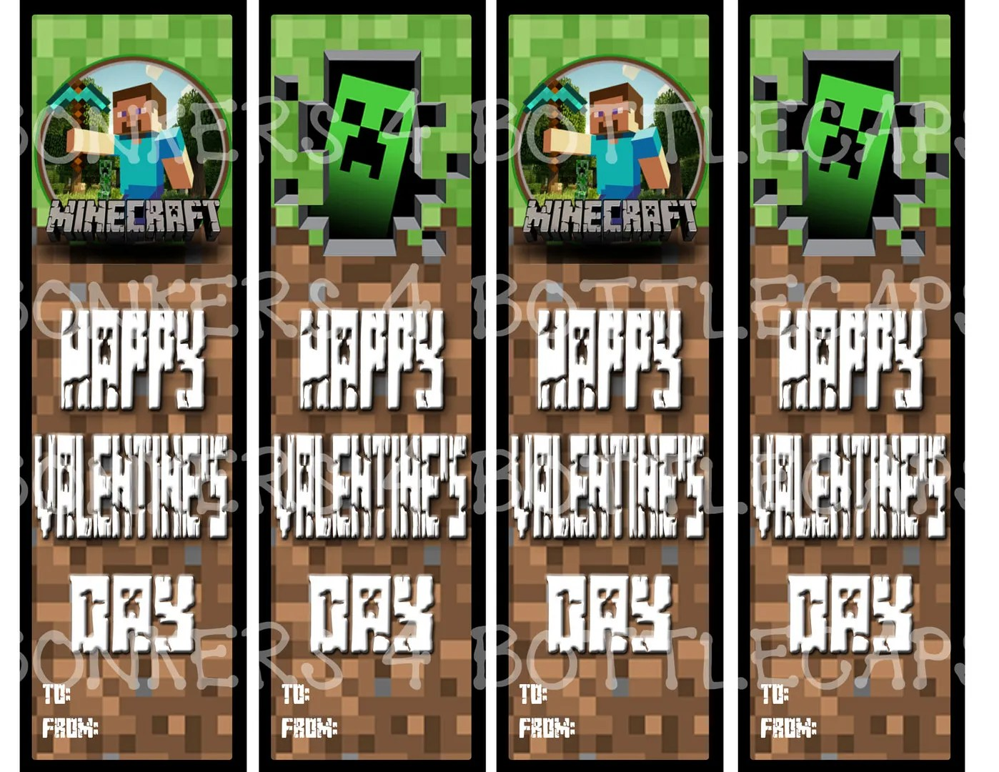5 Printable Minecraft Valentine Sets For The Classroom
