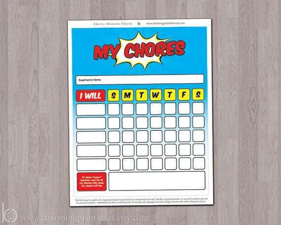 10 cool printable chore charts Cool Mom Picks