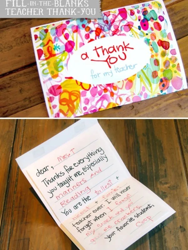 8 of the best teacher appreciation printables Cool Mom Picks - how to make a thank you card in word