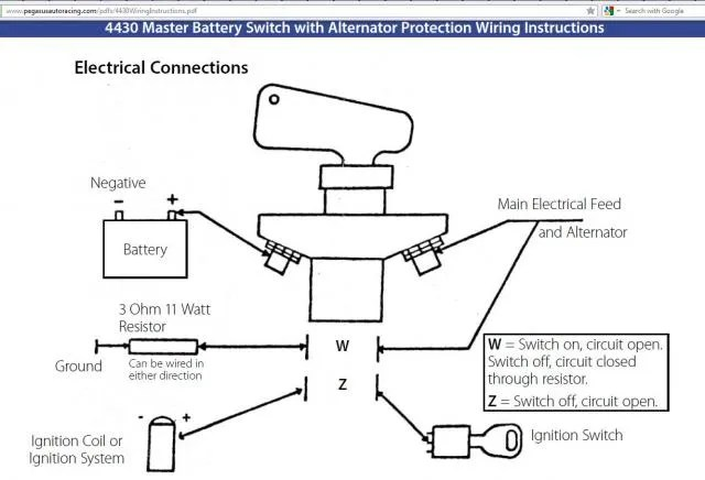Kill Switch Wiring Diagram Alternator - Wiring Diagrams One