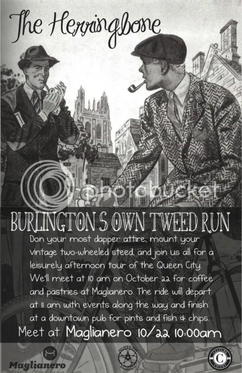 Burlington Vermont Herringbone Tweed Ride Culture Cycles