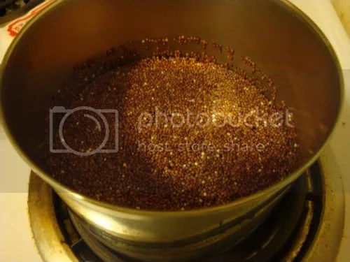 Quinoa on the stove