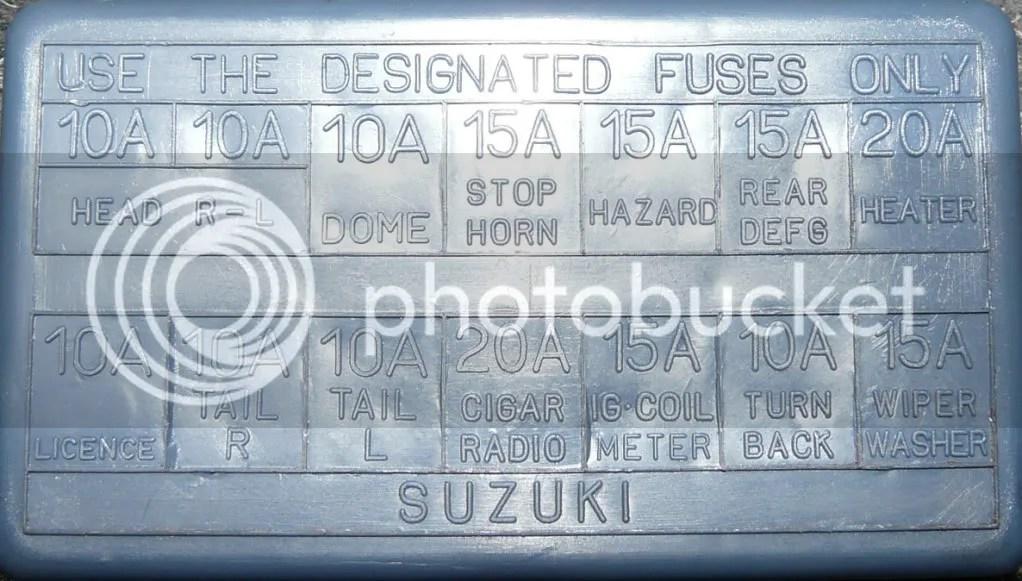 Suzuki Sidekick Fuse Box Wiring Diagram