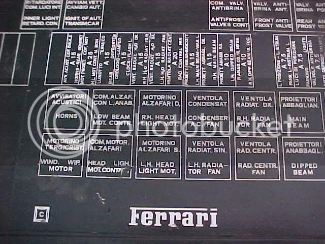 Ferrari 308 Fuse Box - Wiring Data schematic