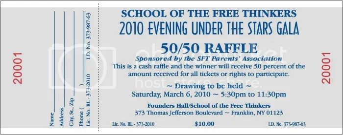 Chance~ Raffle~ Tickets ~ Event Admission ~ Coupons